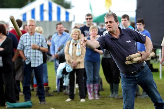 Stephen McAteer, two-time winner of the World Aunt Sally Championship at Charlbury Beer Festival in action Picture: Ric Mellis