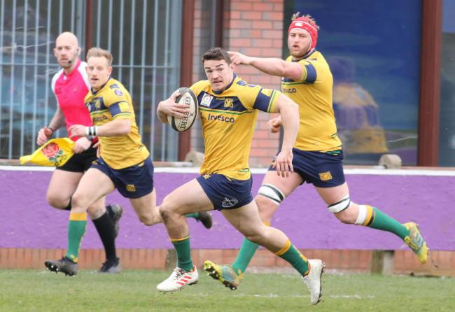 Dan Barnes has been moved to fly-half for Henley's match at home to London Irish Wild Geese in National League 2 South Picture: Steve Karpa