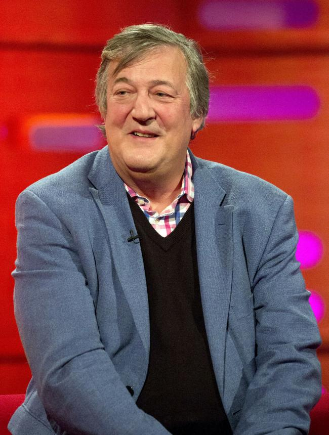 Stephen Fry. Picture PA