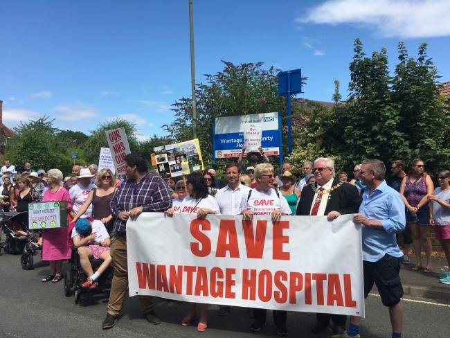 Wantage Community Hospital protest in July 2018.