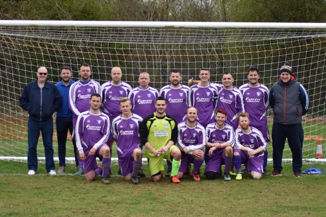 The Yarnton Res squad who won promotion from Division 2 in style thanks to an 8-2 victory over Hanborough Res