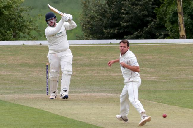 Thame Town's Will Sutcliffe (batting) is among the new faces in the Oxfordshire squad  Picture: Ric Mellis