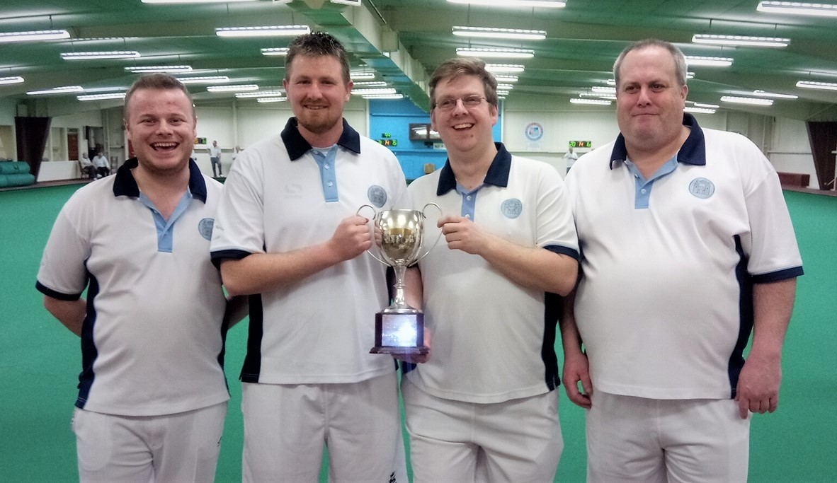 Chipping Norton's (from left) Orren Bennett, Shane Cooper, David Leighfield and Martin Shepherd with the BBC Radio Oxford Trophy Picture: OIBA