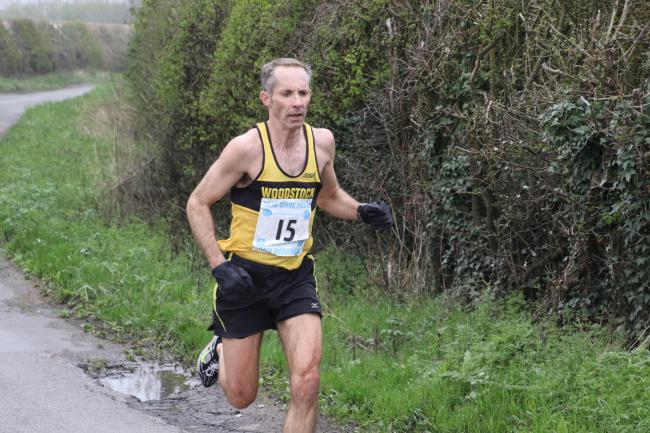 James Bolton en route to winning the White Horse Half Marathon Picture: Barry Cornelius