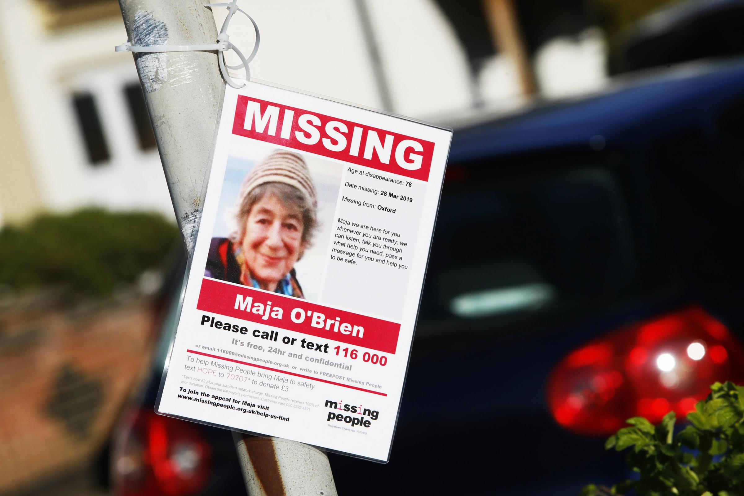Maja O'Brien still missing from Oxford almost a month on