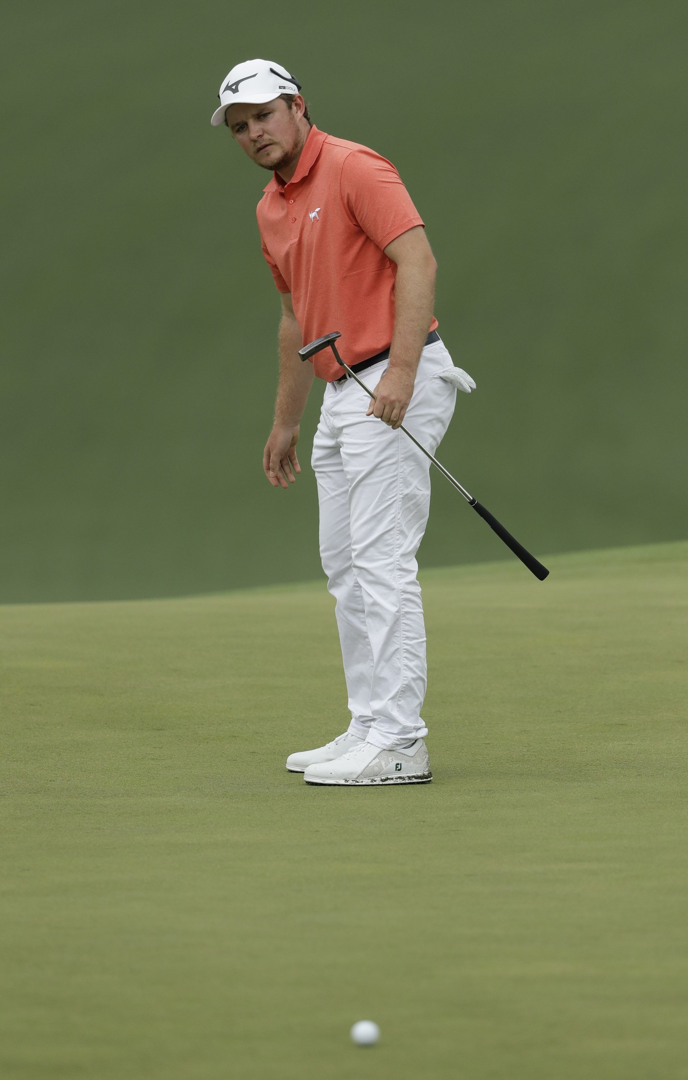 Eddie Pepperell during the third round at the Masters at Augusta Picture: AP /Marcio Jose Sanchez