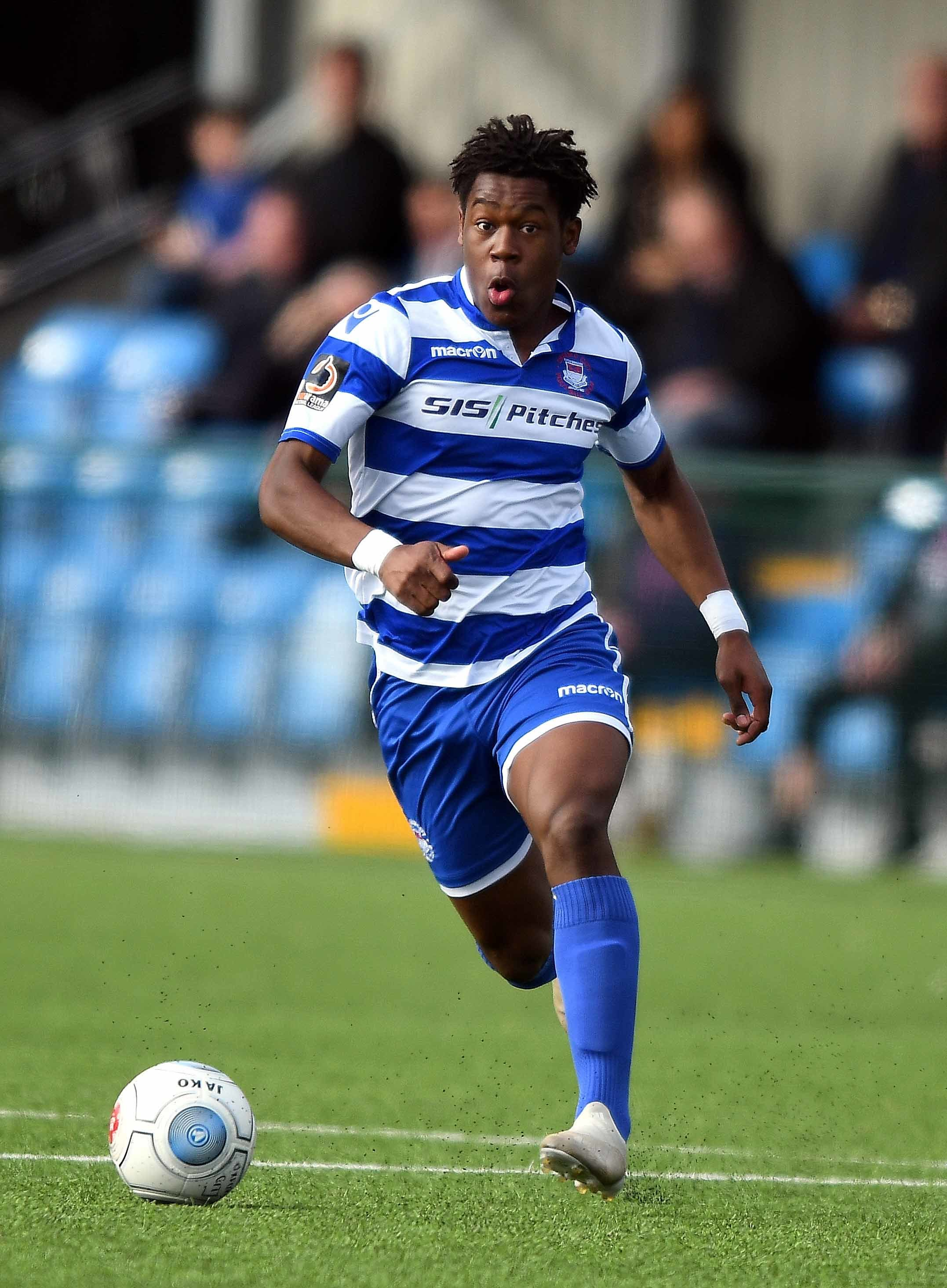 Brandon Thomas-Asante scored the only goal of the game in Oxford City's win at Concord Rangers