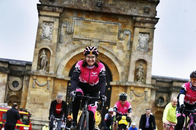 Cyclists at Blenheim Palace when the OVO Energy Women's Cycling Tour was announced last month. Picture: Ed Nix