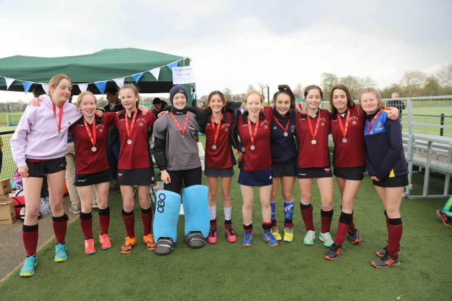 Oxford Hawks' successful squad which won the Under 14 Girls' competition at the 27th Rover Oxford Hockey Festival