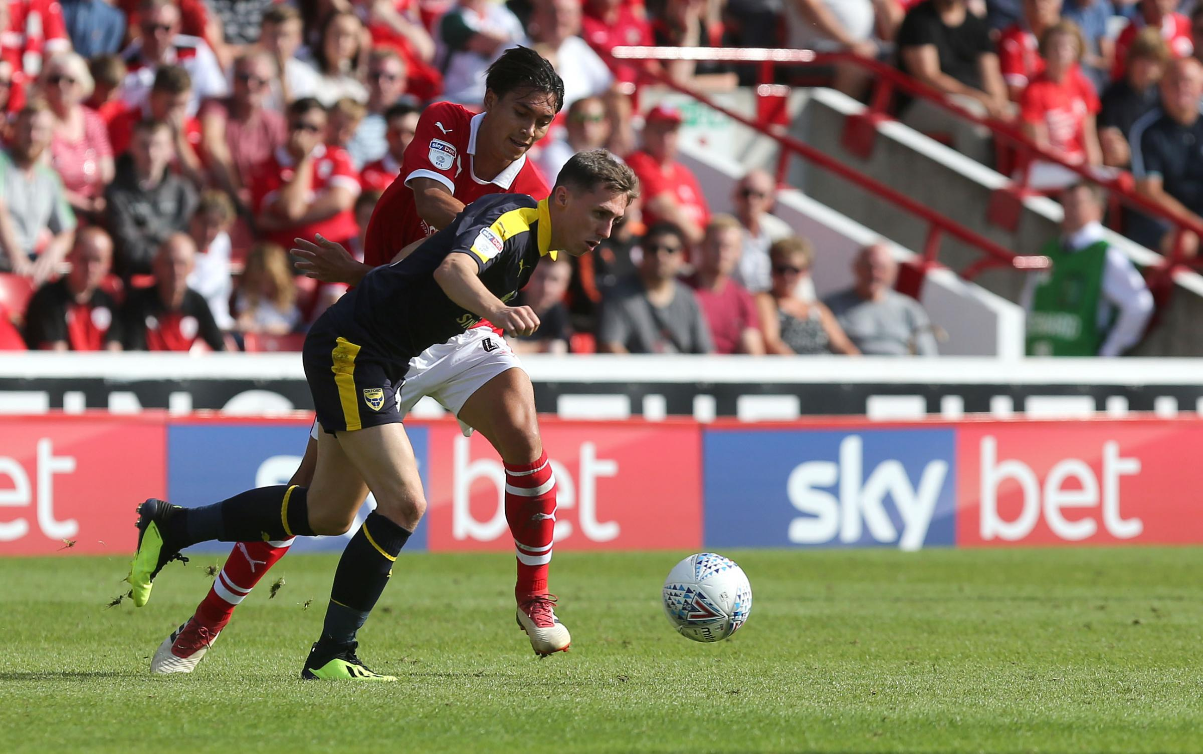 Oxford United visited Barnsley on the opening day of this season  Picture: Richard Parkes