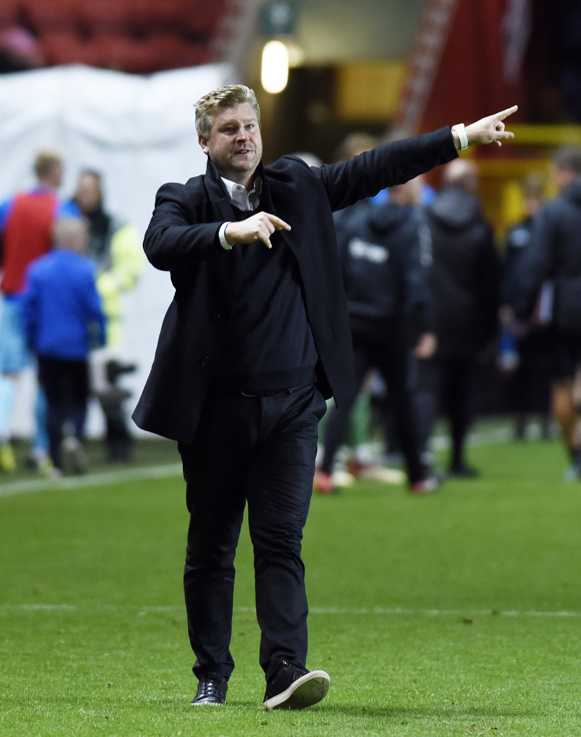 Karl Robinson after Oxford United's 1-1 draw away to Charlton Athletic in October  Picture: David Fleming