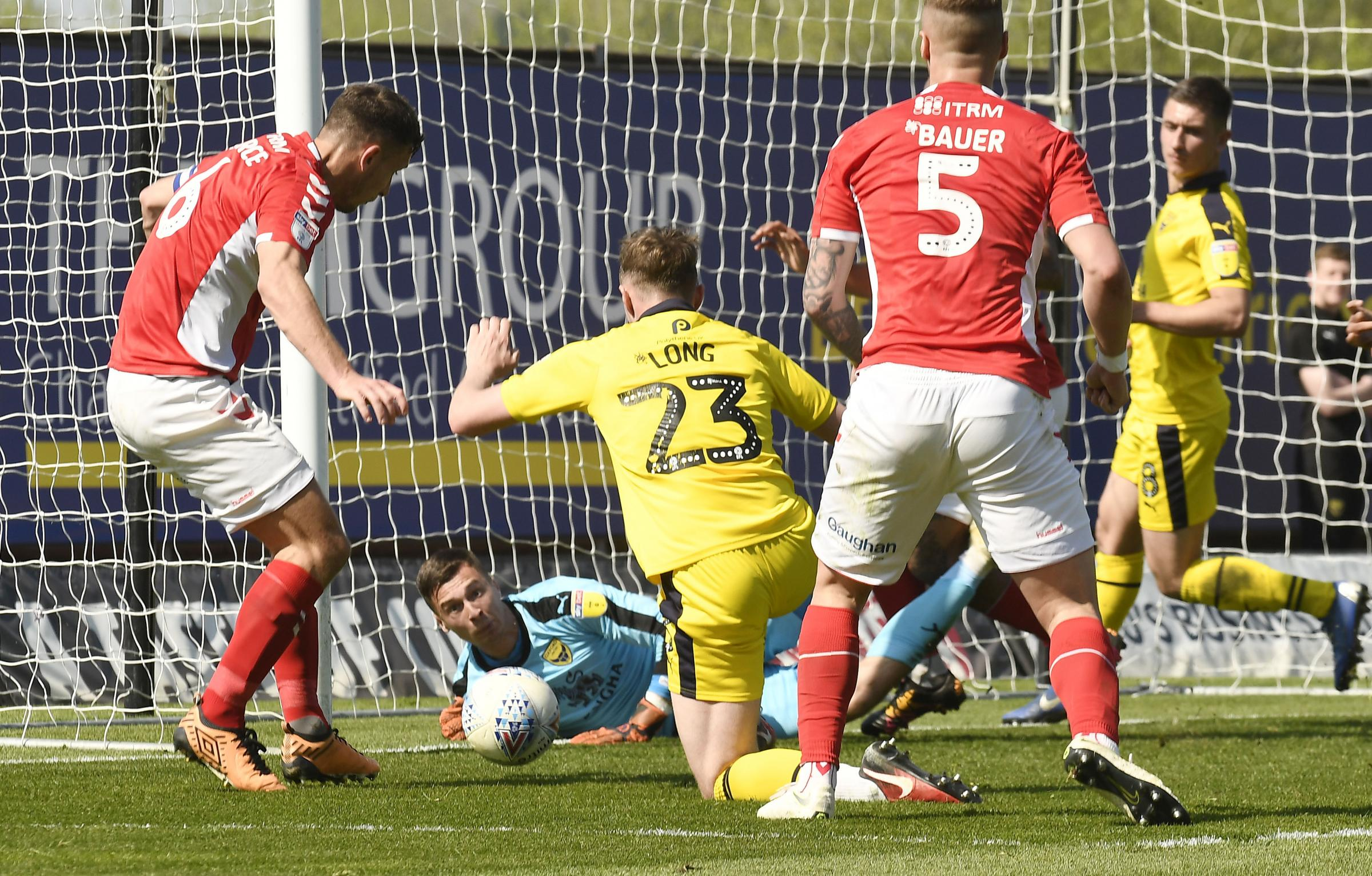 Jack Stevens makes a save on his Oxford United debut against Charlton Athletic  Picture: David Fleming