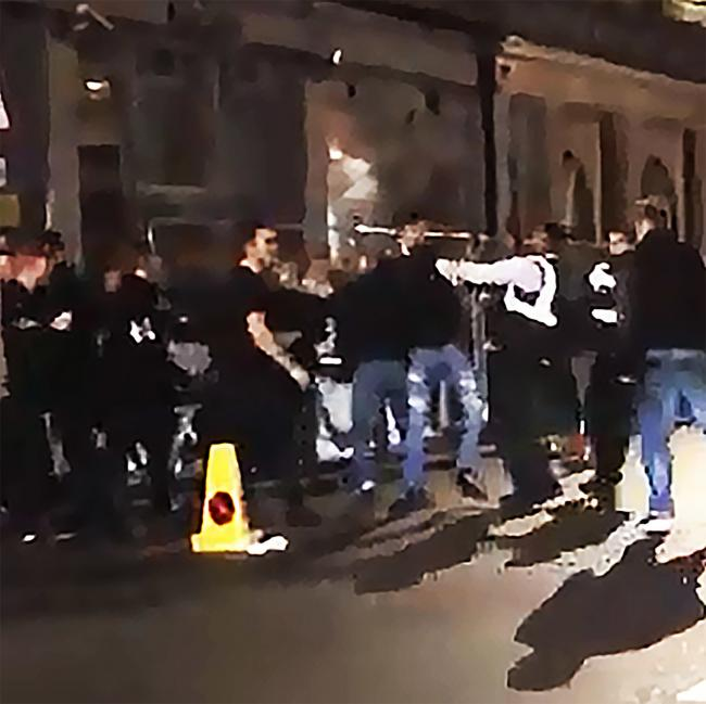 Video of a fight outside ATIK on Park End Street in Oxford by Zak Taylor screen grab taken from the video he put up online via facebook.