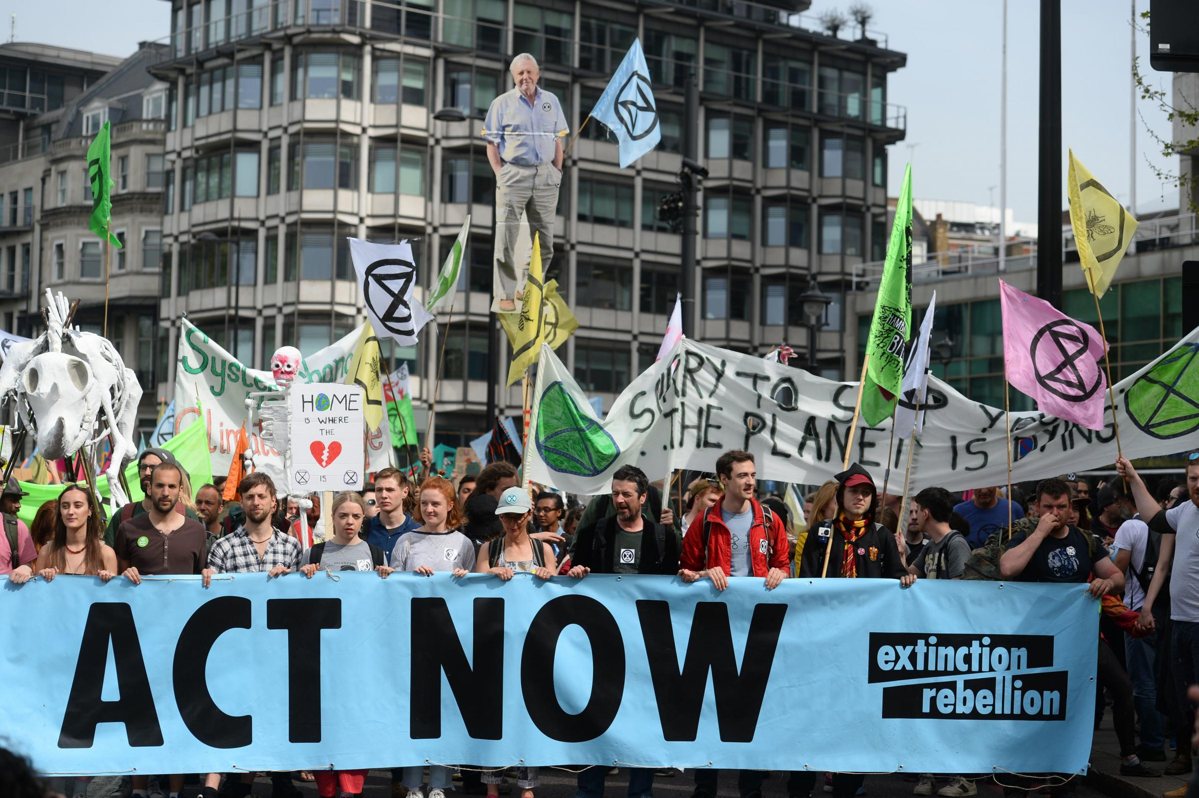 Some of the Extinction Rebellion protesters in London this week. Picture: PA Wire