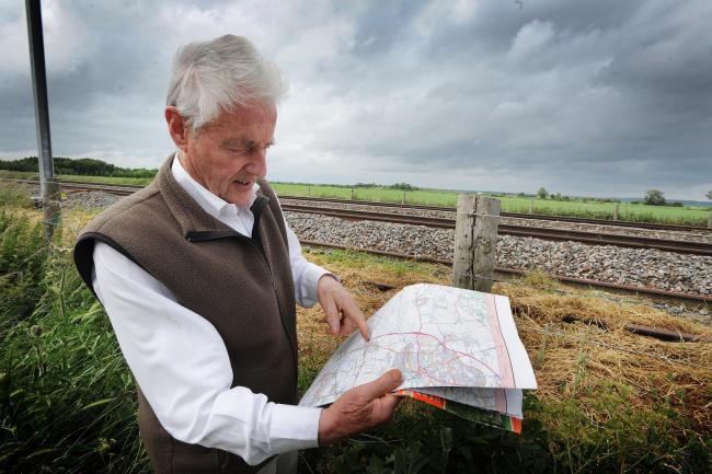 GARD campaigner Nick Thompson at the proposed site for the Abingdon Reservoir. Pic by Jon Lewis