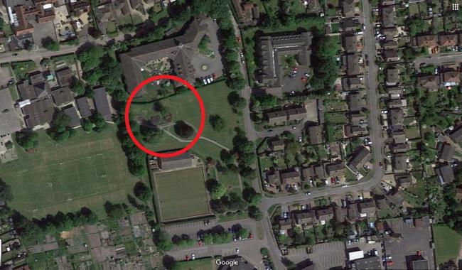 Smallbone Recreation Ground in Didcot, marked with a circle. Picture: Google