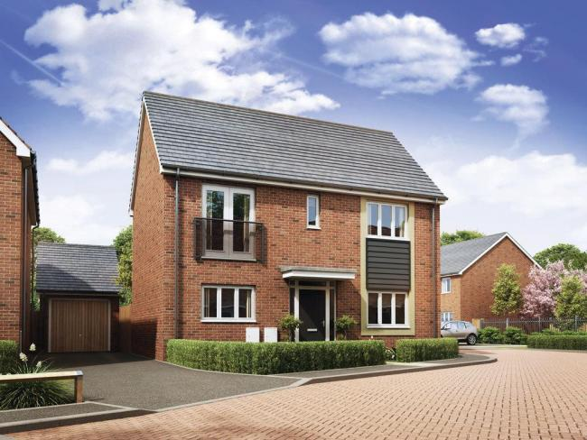 The Crab Hill development, near Wantage, show homes. Picture: St Modwen Homes