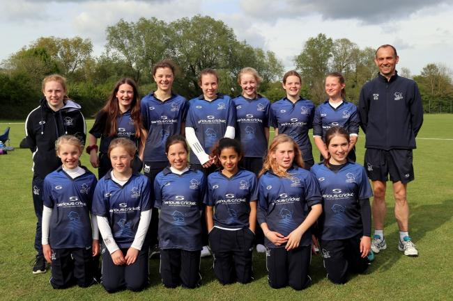 Oxfordshire's under 13 girls Picture: Oxon CB