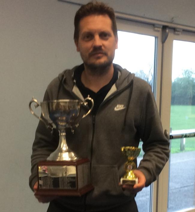 Fraser Harris with his trophies from the Oxford City Championships