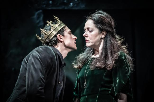 Tom Mothersdale and Derbhle Crotty in Richard III. Picture by Marc Brenner