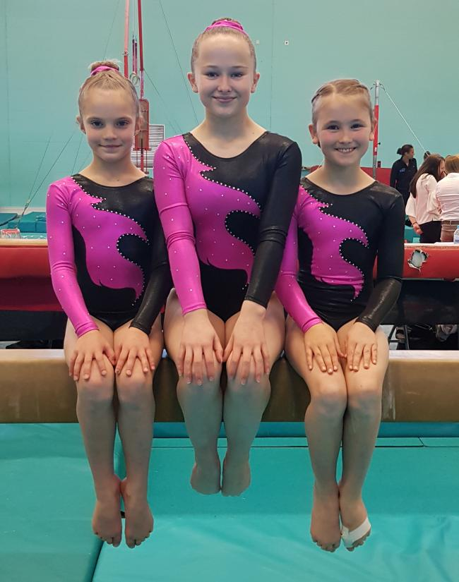 Carterton's (from left) Emilia Marshman, Isabel Norris and Emily Whittaker