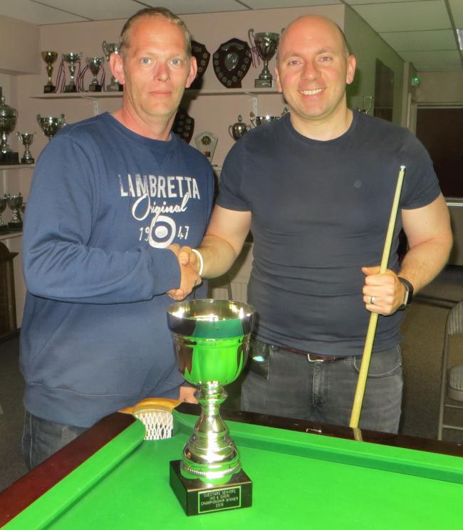 Neil Craycraft (left) and Matt Ford ahead of their Cuestars Seniors Championship final Picture: Tim Dunkley