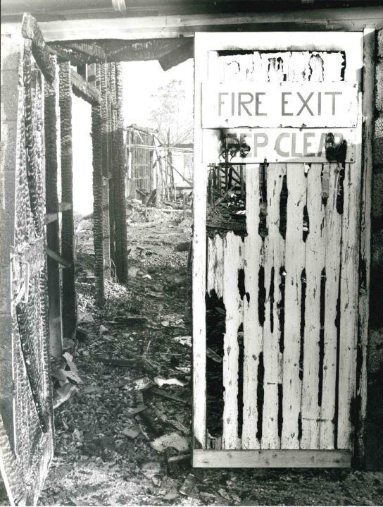 This was a school: Wallingford Upper School burnt to the ground in February 1980