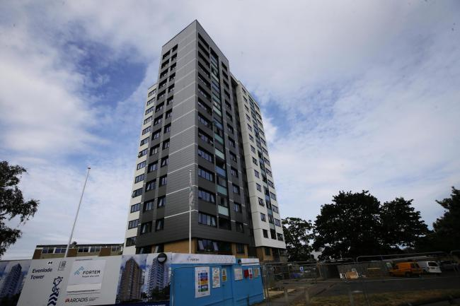 Evenlode Tower in Blackbird Leys before the cladding work was finished
