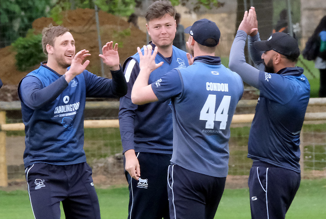 Oxfordshire's players celebrate a Shropshire wicket on Monday Picture: Ric Mellis