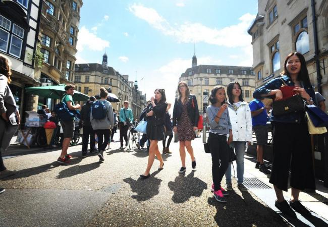 Shoppers in Cornmarket Street