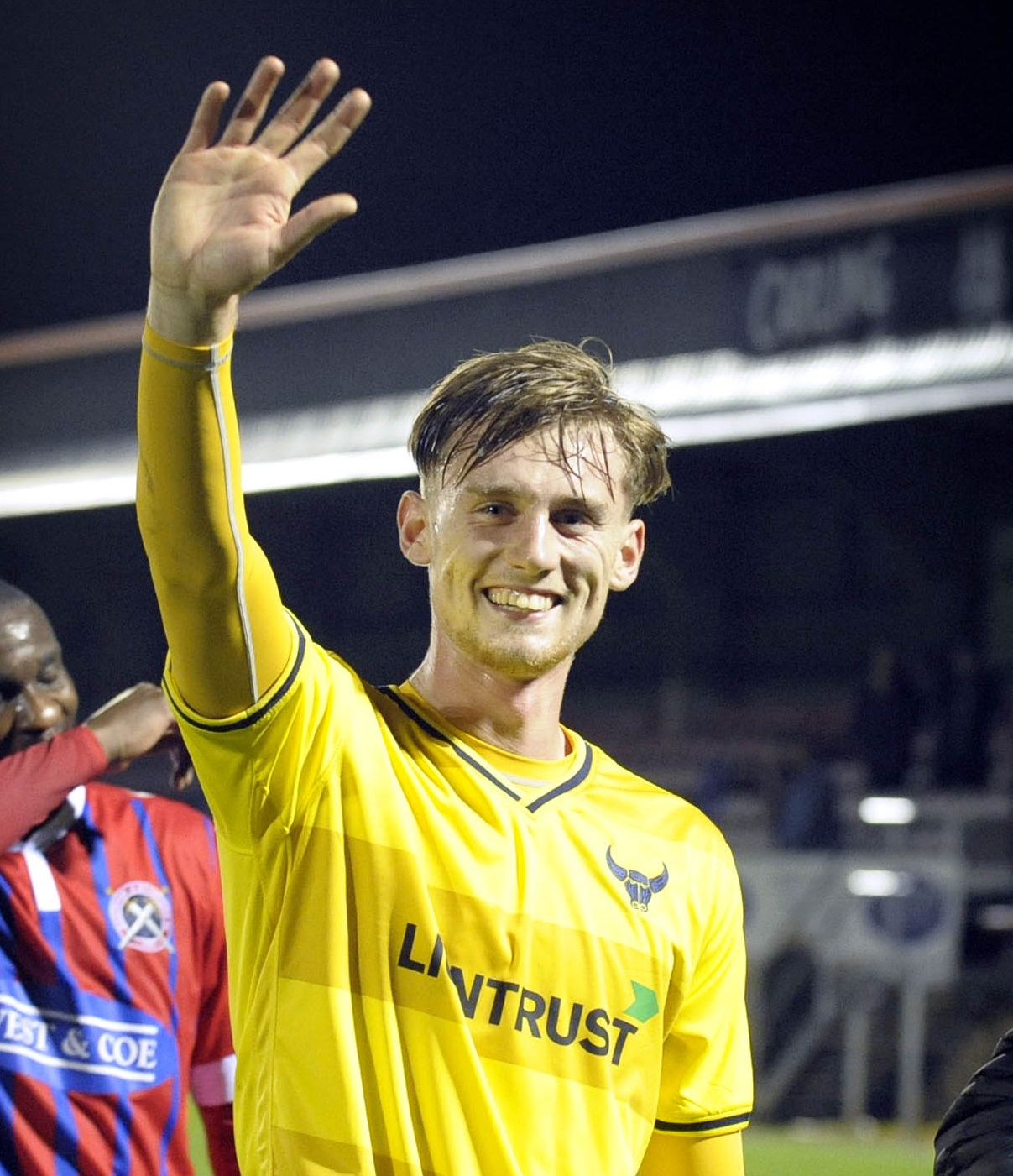 Robbie Cundy on his sole Oxford United appearance at Dagenham Picture: David Fleming