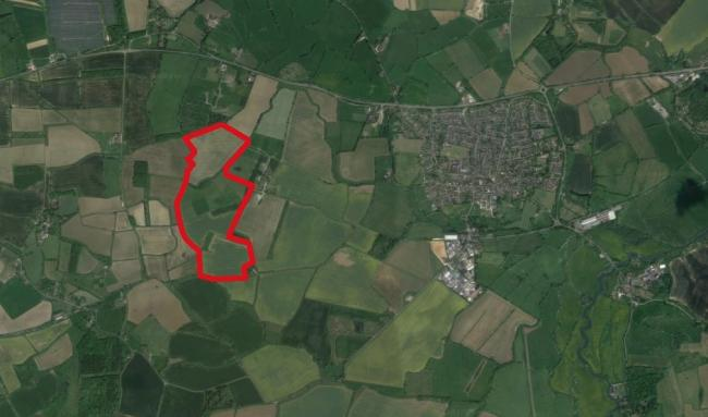 The land at 12 Acre Farm, near Eynsham, Oxfordshire, proposed for a 140-acre solar farm. Picture: Google Maps