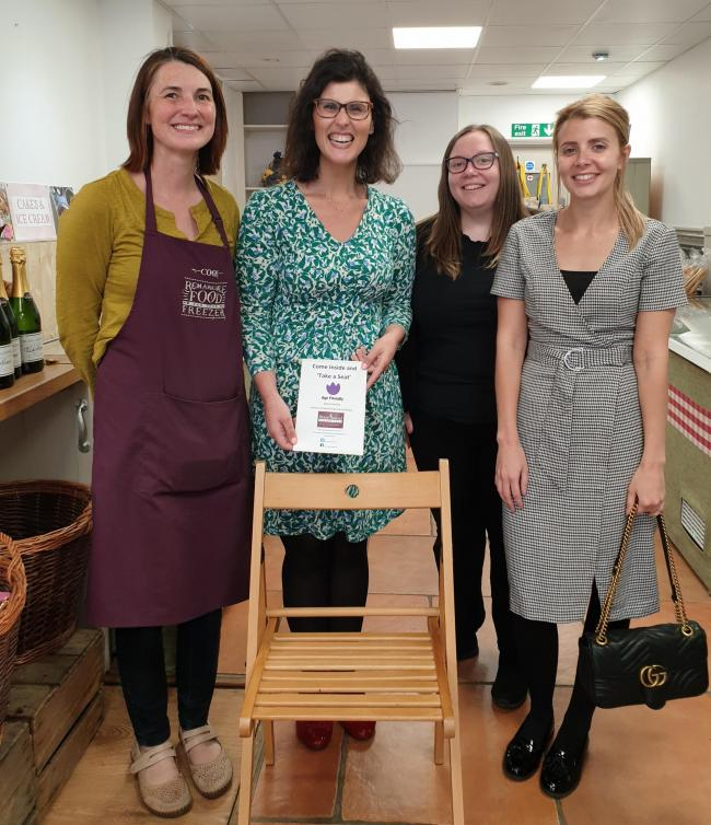 L-R: Kristie Davies, manager of COOK, Layla Moran MP, Mychaila Marsden and Lauren Livingstone, the Care Manager at Home Instead Oxford. Picture: Mychaila Marsden