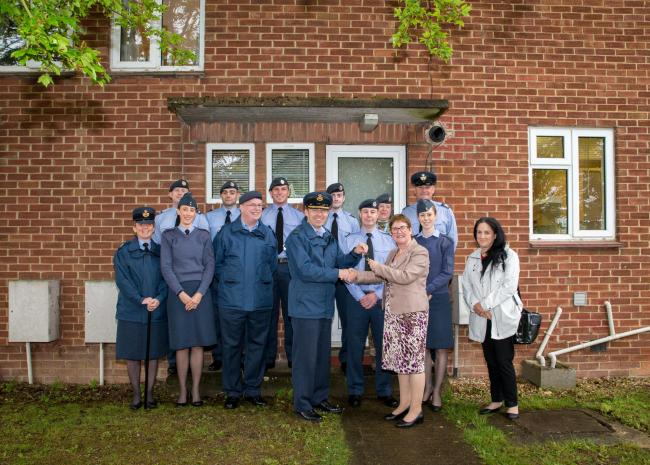 Royal Air Force Benson's Station Commander Adam Wardrope has officially opened Bartlett House, one of three 'contact' houses that have been set up to allow friends and families of military personnel and families to stay on the Station. P