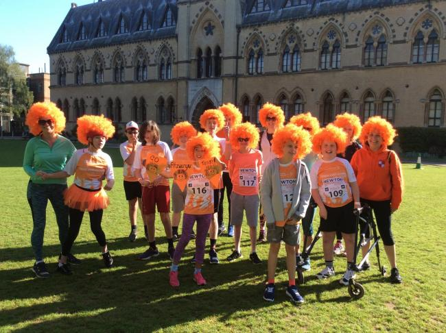 Students from Fitzwaryn Special School ran in Town and Gown last week. Picture: Fitzwaryn