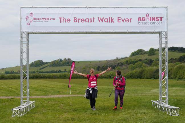 Against Breast Cancer's Breast Walk Ever