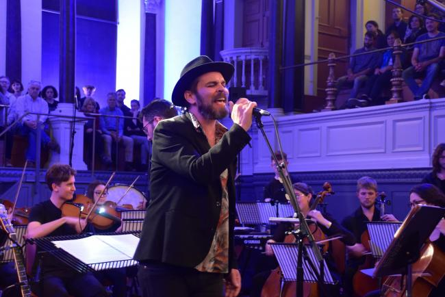 Gaz Coombes at the Sheldonian Theatre, Oxford. Picture by Tim Hughes