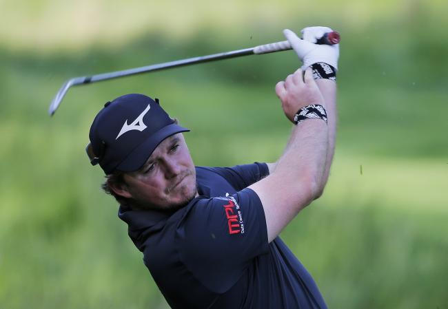 Eddie Pepperell in action during the US PGA Championship Picture: AP/Seth Wenig)