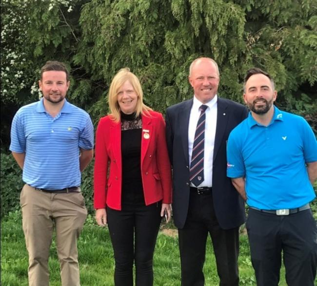 Oxford Golf Club have launched a junior scholarship programme (from left): Joe Pepperell (head professional), Debbie Roberts (ladies' captain), Craig Hancock (men's captain) and Martin Woodbridge (assistant professional)