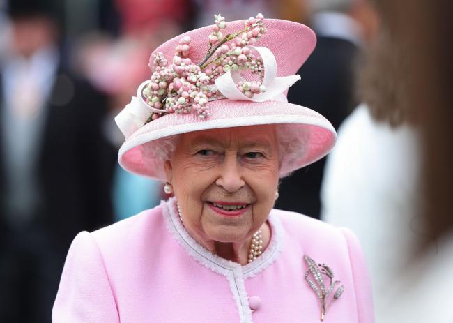 Queen Elizabeth II during a Royal Garden Party at Buckingham Palace in London. PRESS ASSOCIATION Photo. Picture date: Wednesday May 29, 2019. Photo credit should read: Yui Mok/PA Wire