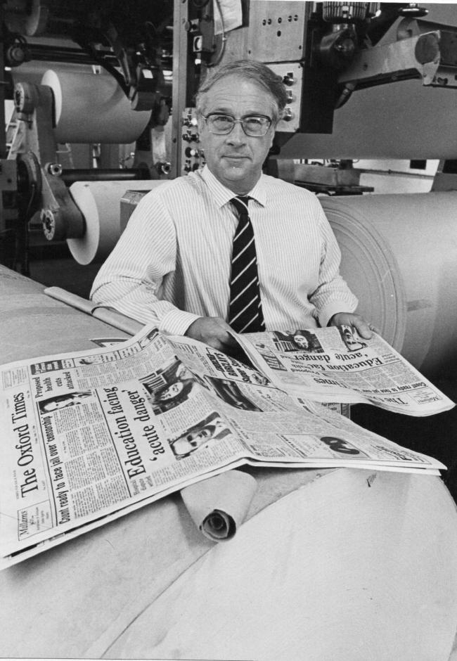 Anthony Price, who edited The Oxford Times for 16 years Picture: Kate James
