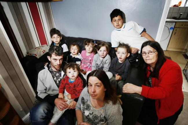 The Davenport family of Rose Hill, who have eight children, featured in the Oxford Mail earlier this year when they pleaded with Oxford City Council for a bigger house. Picture: Ed Nix