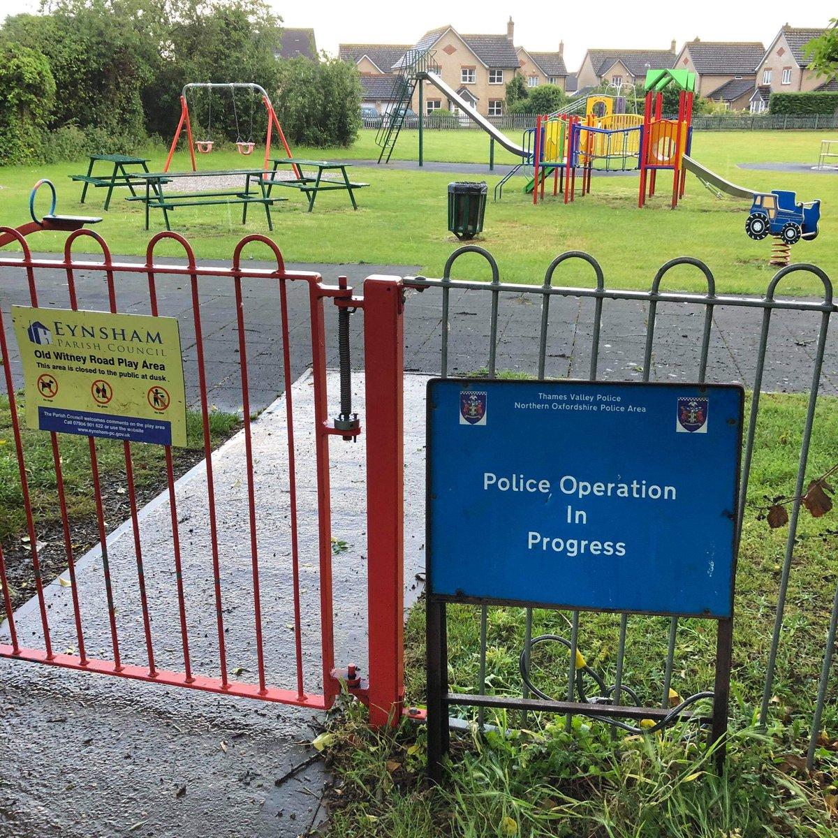 Thames Valley Police are patrolling children parks in Eynsham