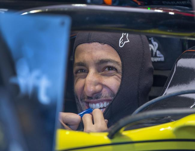 Renault driver Daniel Ricciardo, pictured ahead of practice, was thrilled with his seventh place finish in Canada Picture: Ryan Remiorz/The Canadian Press via AP