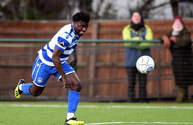 Kabongo Tshimanga has been subject to interest from several EFL clubs, but is yet to make to a decision on his future Picture: Mike Allen