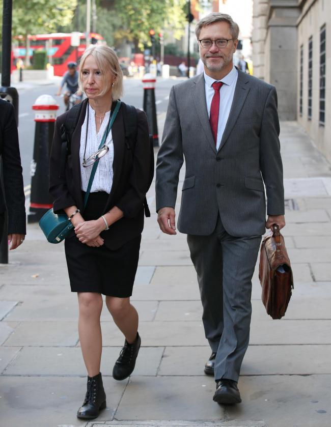 John Letts and Sally Lane, parents of Jack Letts, at the Old Bailey in September. Picture: Yui Mok/ PA Wire