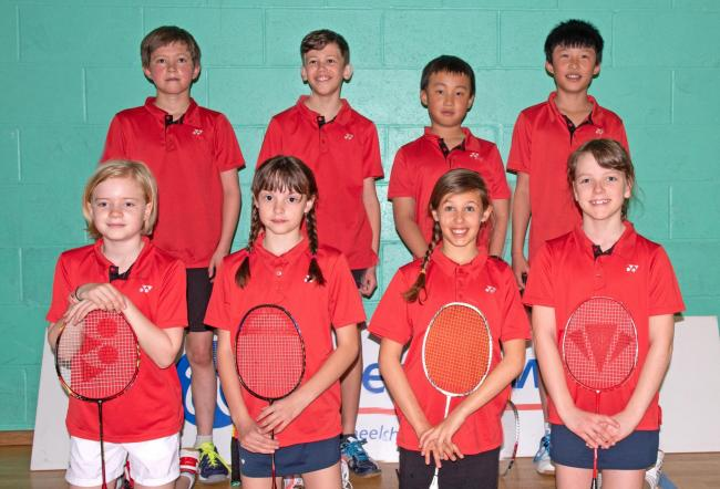 Oxfordshire's successful under 12 squad. Back row (from left): Ethan Soanes, Jamie Wakefield, Siwan Fan, Ryan Tao. Front: Phoebe Wing, Jess Hall, Maya Cawte, Megan Tristam