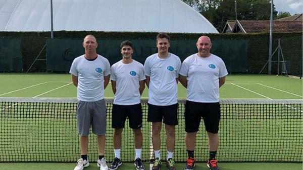 North Oxford's squad (from left): Joe Cartledge, Cameron Price, Ben Calnan, Jon Maskens