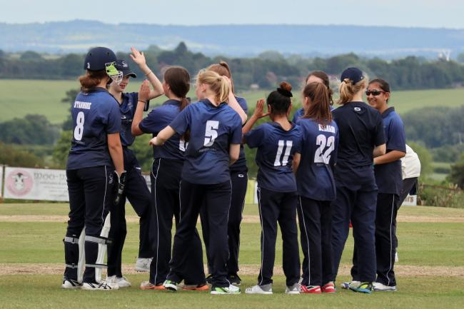 Oxfordshire Saxons Under 15s celebrate a wicket 	               Picture: Martyn Johnson